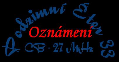 Logo oznámení